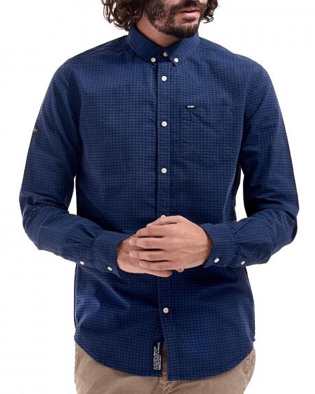 ULTIMATE CITY OXFORD L/S SHIRT καρώ πουκάμισο της SUPERDRY - M40008BP