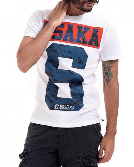 OSAKA 6 CAMO TEE stamp t-shirt της SUPERDRY - M1001ASP