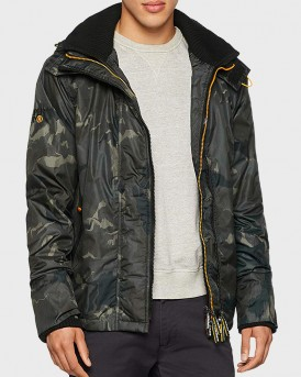 ARTIC HOOD PRINT ZIP WINDCHEATER JACKET TΗΣ SUPERDRY - Μ50000CR - MILITARY