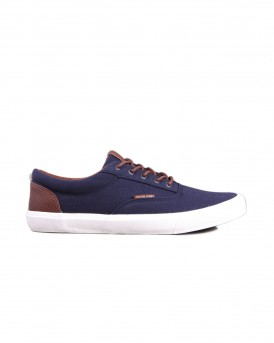 CASUAL ΥΦΑΣΜΑΤΙΝΑ SNEAKERS JFWVISION CLASSIC MIXED NAVY BLAZER STS THΣ JACK & JONES - 12150498 NOOS