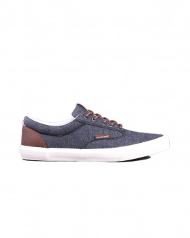 CASUAL ΥΦΑΣΜΑΤΙΝΑ SNEAKERS JFWVISION CLASSIC CHAMBRAY ANTHRACITE STS THΣ JACK & JONES - 12150497 NOOS
