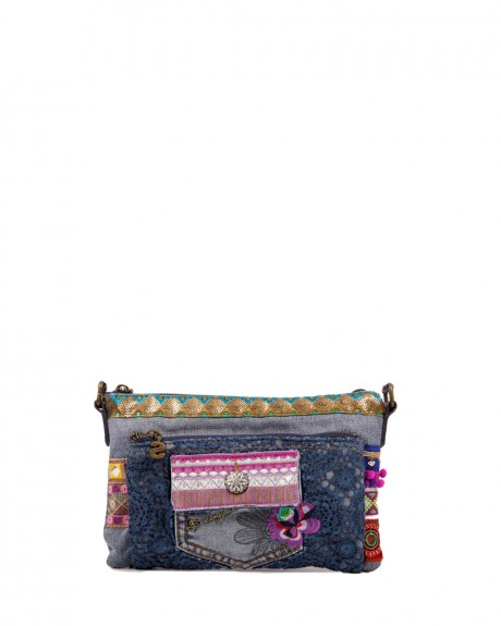 Bols Toulouse Exotic Jean τσαντάκι ώμου της DESIGUAL - 72X9JG7