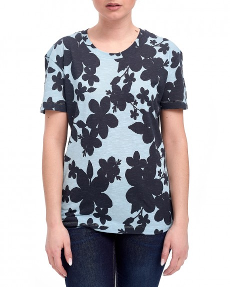 FLORAL T-SHIRT ΤΗΣ EMPORIO ARMANI - 3Ζ2Τ77 2J11Ζ