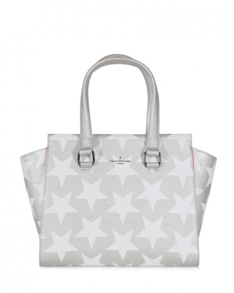 BETHANY TOP HANDLE BAG SILVER WHITE ΤΗΣ PAUL'S BOUTIQUE - ΒETHANY PBN126995