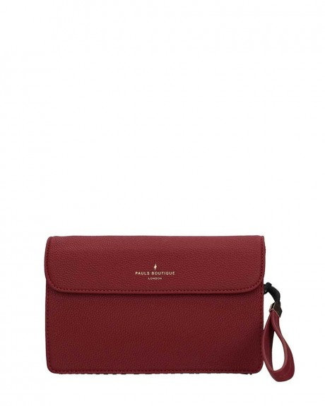 TΣΑΝΤΑ VERONICA CLUTCH BURGUNDY ΤΗΣ PAUL'S BOUTIQUE - VERONICA PBN127169