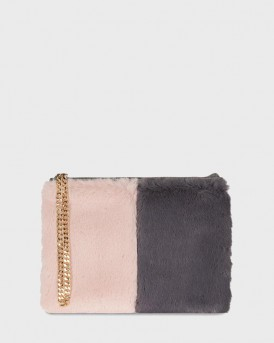 STEPHANIE CLUTCH BAG PINK GREY KEMPTON ΤΗΣ PAUL'S BOUTIQUE - STEPHANIE PBN127226 - ΡΟΖ-ΓΚΡΙ