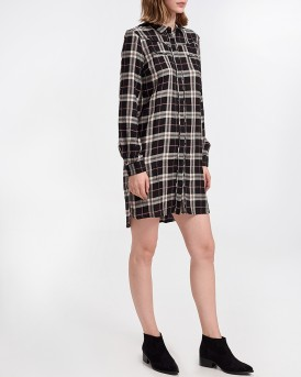 ALONA LONG CHECKERED SHIRT ΤΗΣ PEPE JEANS LONDON - PL952371 ALONA
