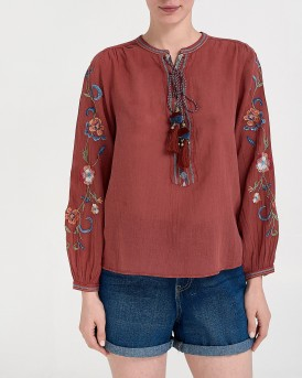 LADIES FLORAL SHIRT ΤΗΣ PEPE JEANS - ΡL303349 MIE