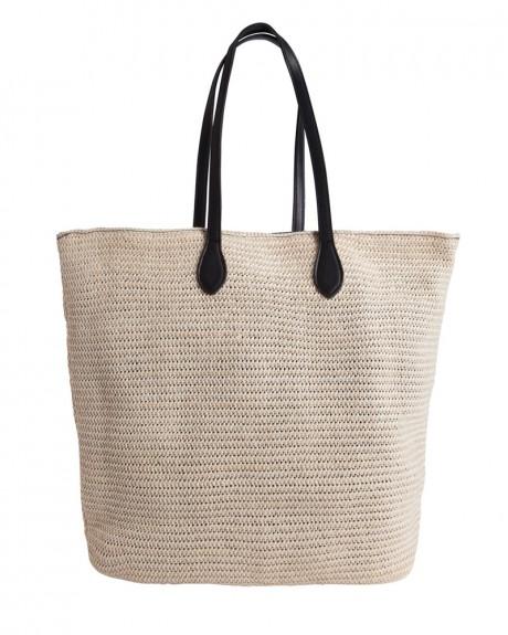 Straw τσάντα ώμου της PIECES - 17080033