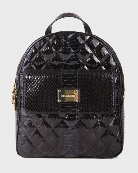 QUILTED SNAKE PU ΤΣΑΝΤΑΚΙ ΧΕΙΡΌΣ ΤΗΣ LOVE MOSCHINO - JC4023PP16LD0-000