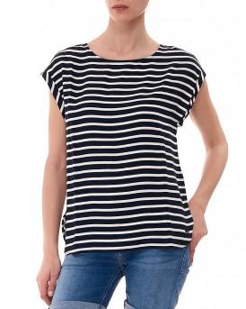 Γυναικείο Ριγέ Denim T-shirt της Tom Tailor - 2032918.09.71