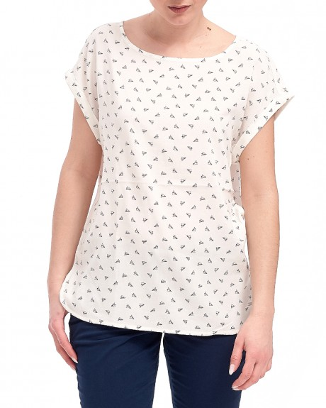 ALL OVER PATTERN T-SHIRT ΤΗΣ TOM TAILOR - 2055176.09.71