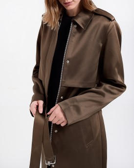 ΠΑΛΤΟ MILITARY GREEN TRENCH COAT ΤΗΣ MAISON SCOTCH - 146205 - ΛΑΔΙ