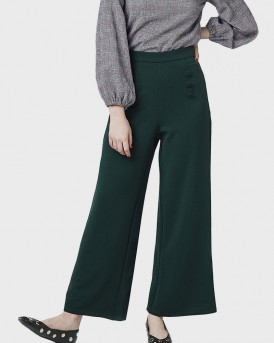 GREEN BUTTON DETAIL TROUSERS ΤΗΣ COMPANIA FANTASTICA - FA18HAN44