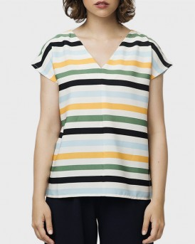 MULTICOLORED STRIPE TOP ΤΗΣ COMPANIA FANTASTICA - SS19SΗΕ43