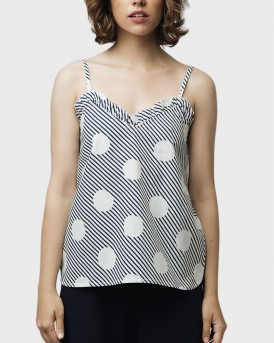 COTTON TOP WITH STRIPES AND POLKA DOTS ΤΗΣ COMPANIA FANTASTICA - SS19PIC15