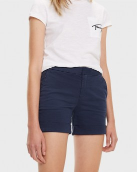 ESSENTIAL CHINO SHORTS ΤΗΣ TOMMY HILFIGER- DW0DW06179 - ΜΠΛΕ