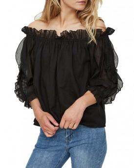 Off shoulder Μπλούζα 2/4 της VERO MODA - 10190228 - ΜΑΥΡΟ