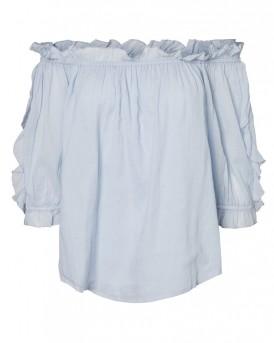 Off shoulder Μπλούζα 2/4 της VERO MODA - 10190228 - ΣΙΕΛ