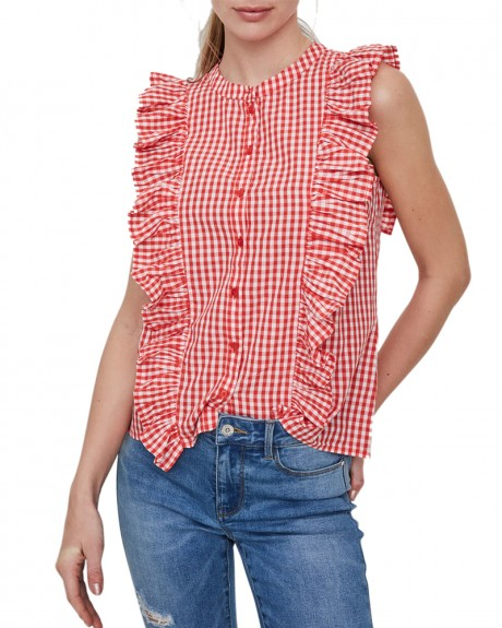FRILLS SLEEVELESS SHIRT ΤΗΣ VERO MODA - 10197587