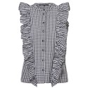 FRILLS SLEEVELESS SHIRT ΤΗΣ VERO MODA - 10197587 - ΚΟΚΚΙΝΟ