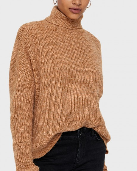 HIGH NECK WOOL KNITTED PULLOVER ΤΗΣ VERO MODA - 10200418