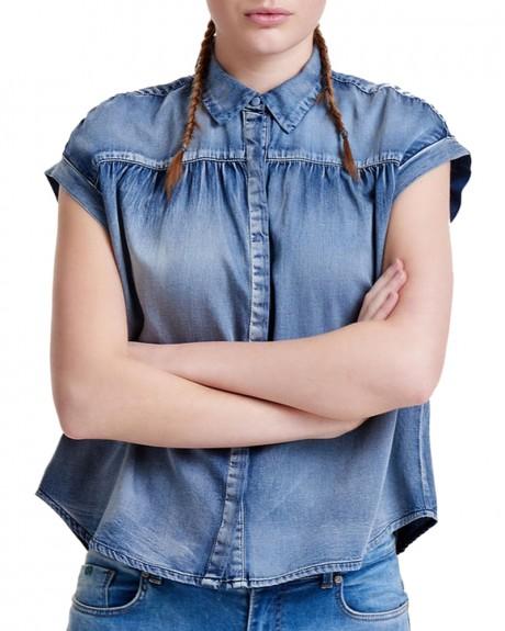 Κοντομάνικο τζην πουκάμισο της ONLY - 15130583