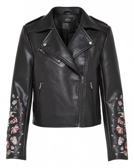EMBROIDERY FAUX LEATHER JACKET ΔΕΡΜΑΤΙΝΟ P.U ΤΗΣ ONLY - 15153368