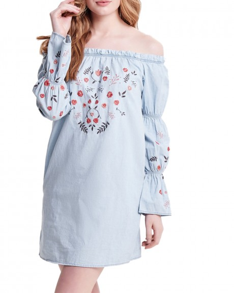 EMBROIDERY DENIM DRESS ΤΗΣ ONLY - 15158982