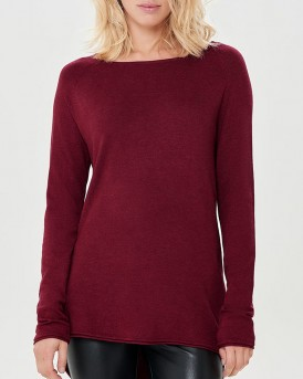 LONG KNITTED PULLOVER ΤΗΣ ONLY - 15109964 - ΚΟΚΚΙΝΟ