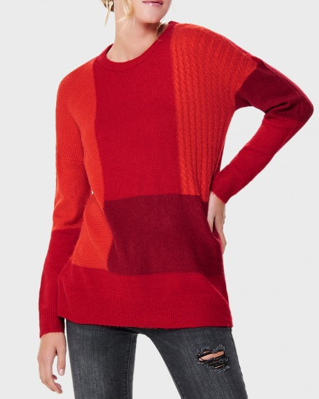 LONG KNITTED PULLOVER ΤΗΣ ONLY - 15160849