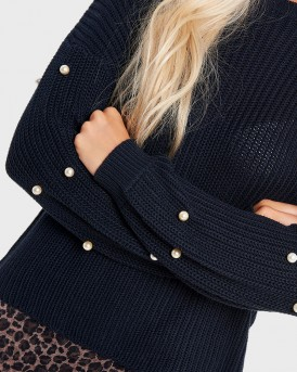PEARL KNITTED PULLOVER ΤΗΣ ONLY - PEARL KNITTED PULLOVER-15155934