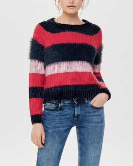 STRIPED KNITTED PULLOVER ΤΗΣ ONLY - 15161865