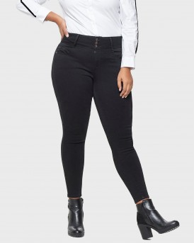 CURVY ANNA HW ANKLE SKINNY FIT JEANS ΤΗΣ ONLY CARMAKOMA - 15164131 PLUS