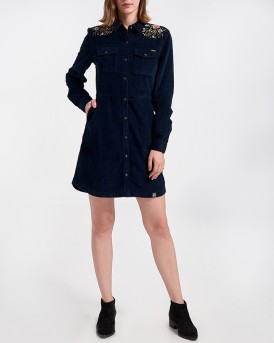 GRACE CORD DRESS ΤΗΣ SUPERDRY - G800120R