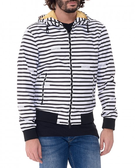 Waterproof Stripes Jacket της ARMANI JEANS - 3Y6B20 6NDAZ