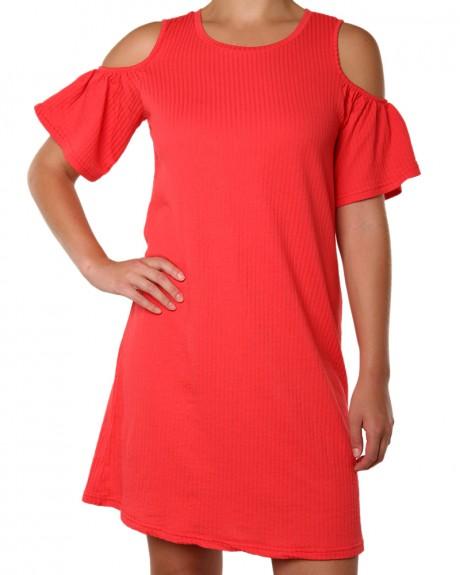 Κοντομάνικο Striped off shoulder φόρεμα της VERO MODA - 10176437