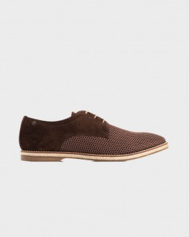 KINCH WEAVE MESH/SUEDE CASUAL SHOES ΤΗΣ BASE LONDON - KINCH WEAVE - ΚΑΦΕ
