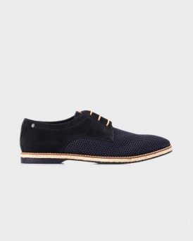 KINCH WEAVE MESH/SUEDE CASUAL SHOES ΤΗΣ BASE LONDON - KINCH WEAVE - ΜΠΛΕ