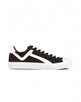 SLHERIC CANVAS TRAINER W SNEAKERS ΤΗΣ SELECTED - 16066545 - ΜΑΥΡΟ