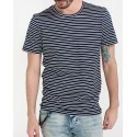 STRIPED T-SHIRT SLHNEW SS O-NECK TEE B ΤΗΣ SELECTED - 16066618