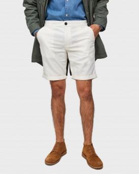 Selected Βερμούδα Linen Shorts - 16067677 - ΑΣΠΡΟ