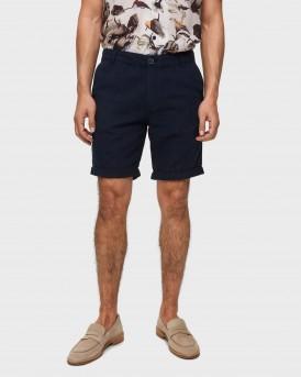 Selected Βερμούδα Linen Shorts - 16067677 - ΜΠΛΕ