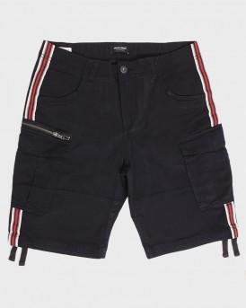 Jack & Jones Βερμούδα Cargo Shorts Stripe - 12152640 - ΜΑΥΡΟ