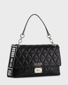 ΤΣΑΝΤΑ LAIKEN QUILTED-LOOK SHOULDER BAG WITH LOGO ΤΗΣ GUESS - VG740720
