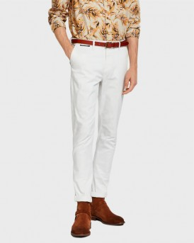 STUART STRETCH CHINOS PANTS ΤΗΣ SCOTCH & SODA - 148776 - ΑΣΠΡΟ