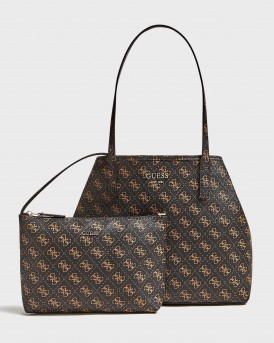 ΤΣΑΝΤΑ VIKKY SHOPPER WITH LOGO PRINT AND POCHETTE - QL699524