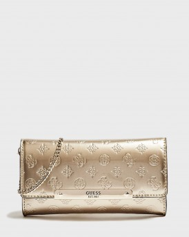 ΤΣΑΝΤΑΚΙ HIGHLIGHT PATENT-LOOK CLUTCH ΤΗΣ GUESS - PS741371