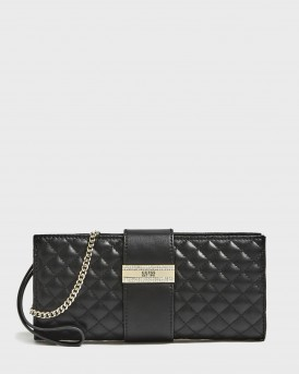 ΦΑΚΕΛΟΣ HIGHLIGHT QUILTED-LOOK CLUTCH ΤΗΣ GUESS - QG741373