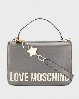 ΤΣΑΝΤΑ ΩΜΟΥ PEACE LOVE AND STARS ΤΗΣ LOVE MOSCHINO - JC4037PP18LD0